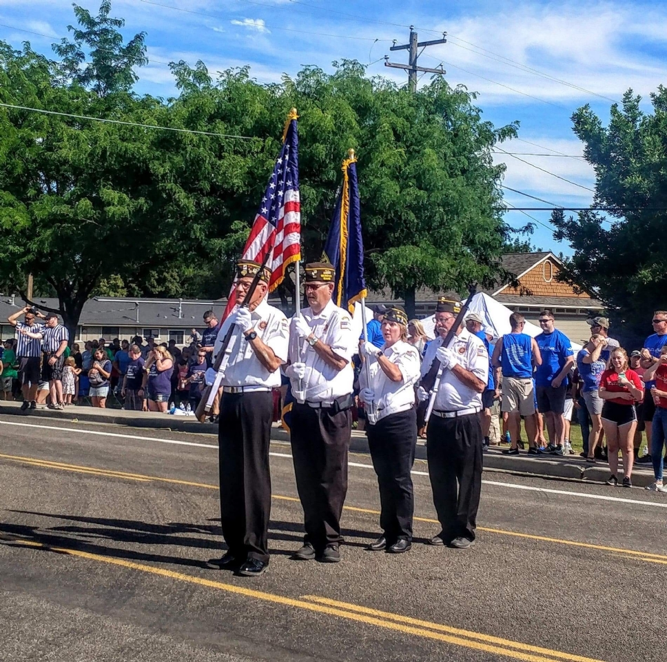 Fireman's Fire truck Pull, Eagle, ID Apr 2018 Opening Ceremony Present Colors